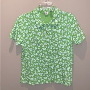 Vintage 90s Gap Snap Button Daisy Shirt